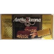 ANTIU XIXONA TURRON CHOCOLATE CON ALMENDRAS 200 GRS ETIQUETTE NOIRE