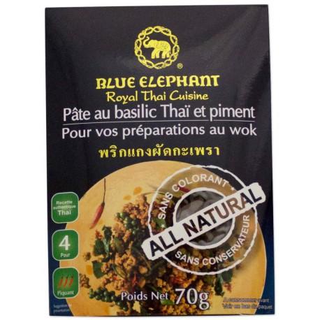 BLUE ELEPHANT PATE DE BASILIC THAI POUR SAUTE 70G
