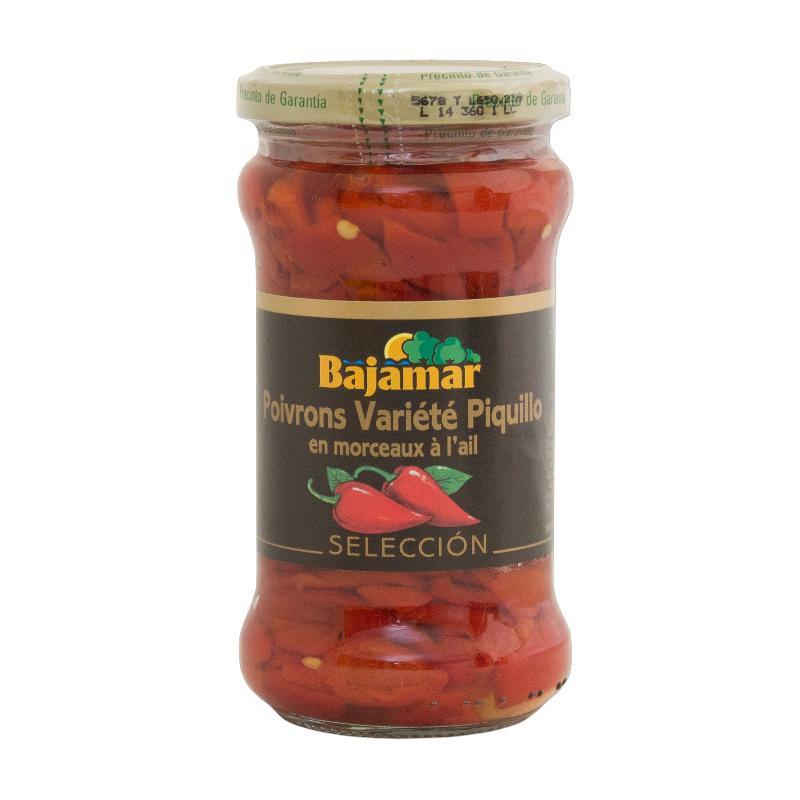 Poivrons piquillo ail huile BAJAMAR