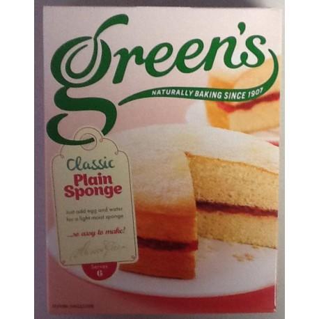 GREEN'S Classic plain sponge