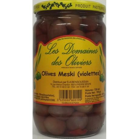 "OLIVES MESKI (VIOLETTES) 720ML"" LES DOMAINES DES OLIVIERS"""