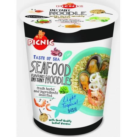 PICNIC CUP NOUILLES/SOUPE SEAFOOD (fruit de mer) (avec herbes fraiches) 60g