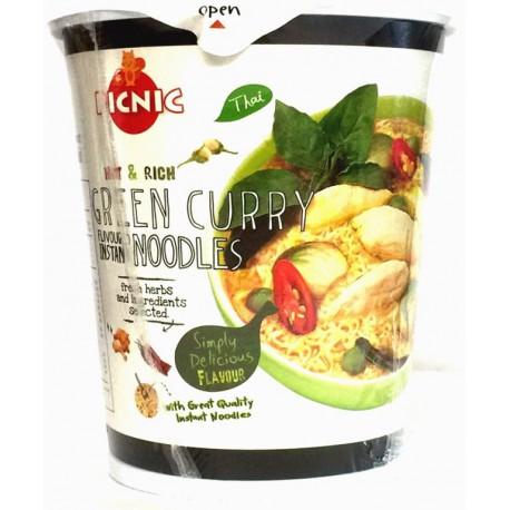 PICNIC CUP NOUILLES/SOUPE CURRY VERT (avec herbes fraiches) 60g