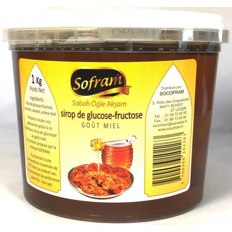 SOFRAM SIROP DE GLUCOSE-FRUCTOSE GOUT MIEL 1 KG