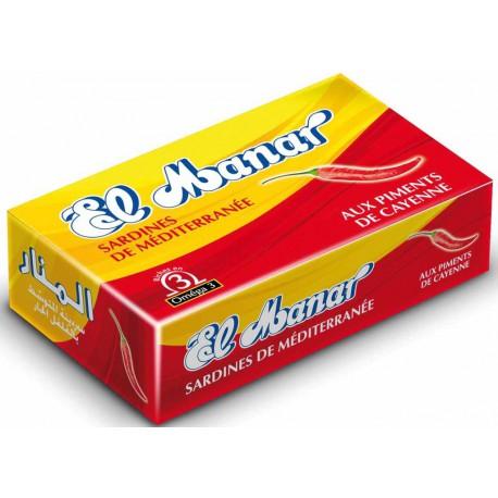 EL MANAR SARDINES AUX PIMENTS DE CAYENNE 125 GR