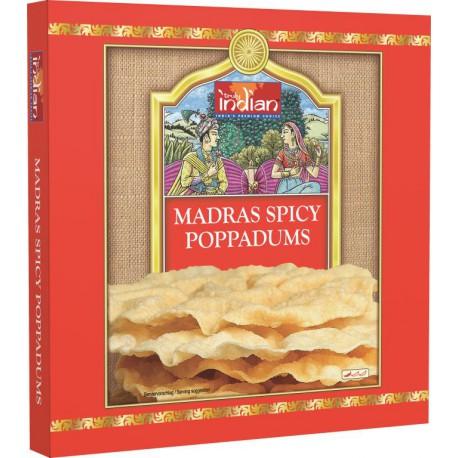 TRULY INDIAN MADRAS SPICY POPPADUMS 112G