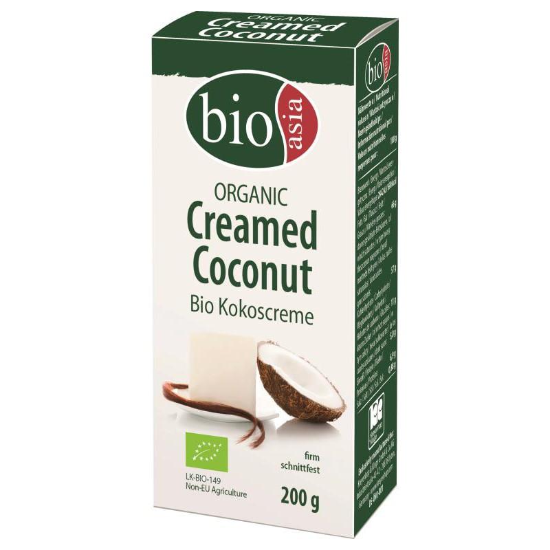 BIO ASIA CREME DE NOIX DE COCO BIOLOGIQUE 100% EN BLOC BIO 200G