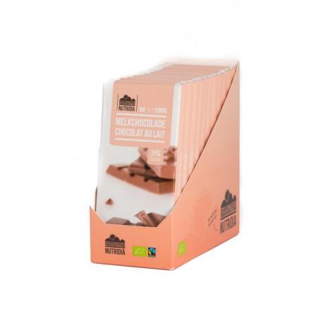 TABLETTE CHOCOLAT LAIT 100G BIO NUTRIDIA