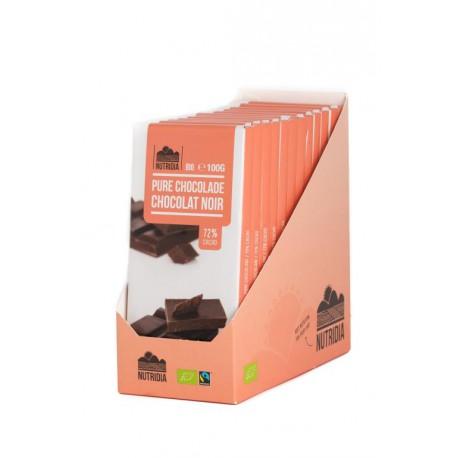 TABLETTE CHOCOLAT NOIR 72% 100G BIO NUTRIDIA