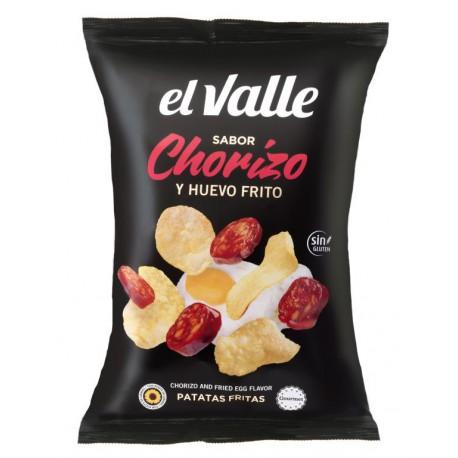 EL VALLE CHIPS SAVEUR CHORIZO ET OEUF FRIT 130 GRS